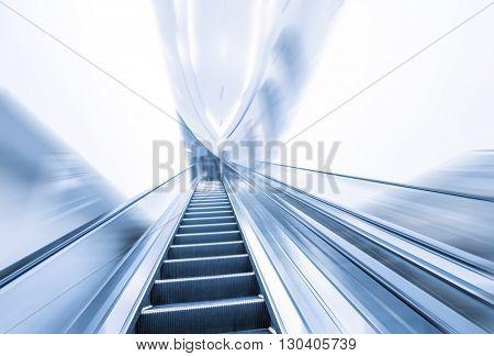 empty modern elegant escalator