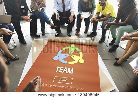 Team Teamwork Connection Cooperation Partner Concept