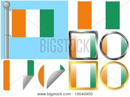 Flag Set Cote d'Ivoire