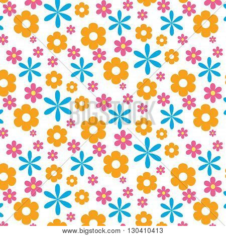 Simple floral pattern. Vector pattern with flowers. Good for phone cases notebook covers packages and backgrounds