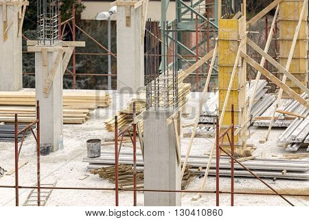 particularly to a construction site of a residential building from above