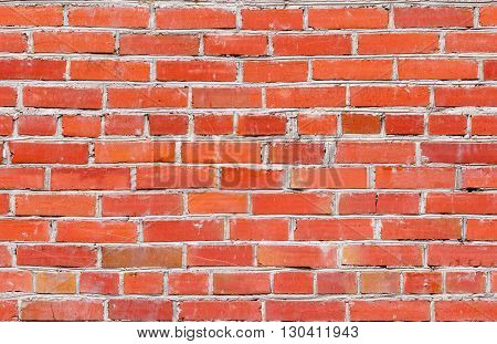 Background of red brick wall pattern texture. Seamless background texture of old red brick wall