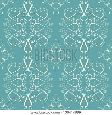 Vintage flower seamless pattern floral vector designed Endless floral pattern.