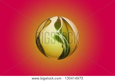Abstract Sphere Design Background Object With Space For Your Text