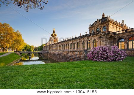 Zwinger Palace in the old town of Dresden, Germany.