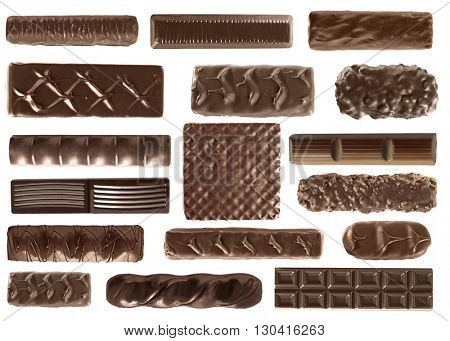 Set of delicious chocolate candies