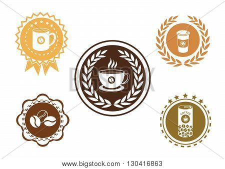 Coffee label set.It's for coffee logo and label