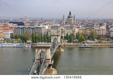 Cain Bridge day shot, Budapest Hungary.