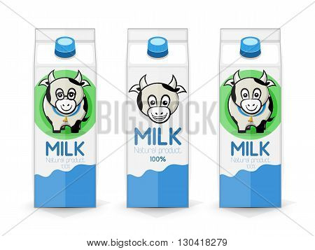 Three Packages Of Milk
