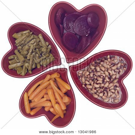 Heart Healthy Diet - Carrots, Asparagus, Black Eyed Peas And Beets.