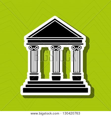 court building design, vector illustration eps10 graphic