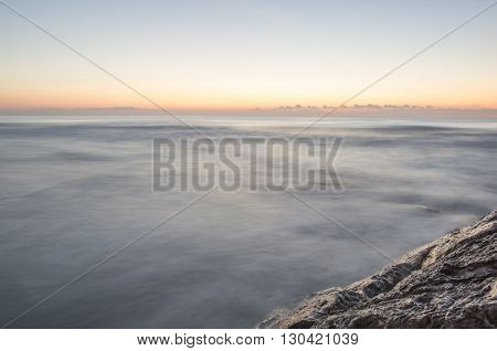 Dawn in the Mediterranean in Castellon, Spain