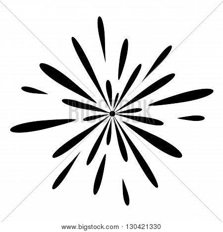 Fireworks celebration. Vector illustration on white background.