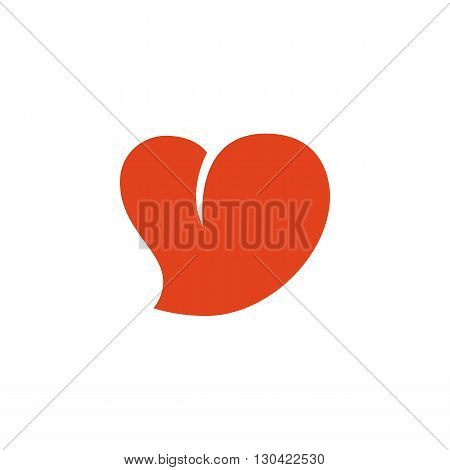 Heart Icon. Heart logo. Vector design element. Abstract emblem, graphic design concept. Logotype element for template. Vector illustration on white background - stock vector