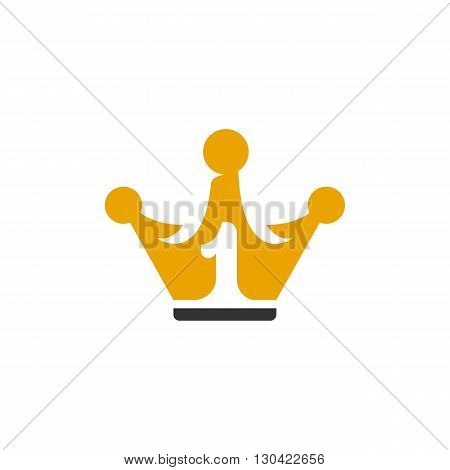 Crown Icon. Crown logo. Vector design element. Abstract emblem, graphic design concept. Logotype element for template. Vector illustration on white background - stock vector