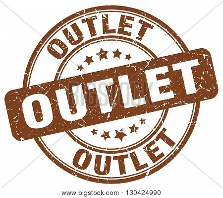 outlet brown grunge round vintage rubber stamp