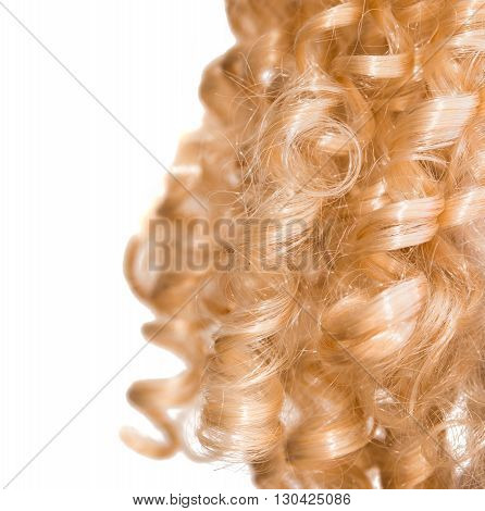 style  textured long blond hair as background