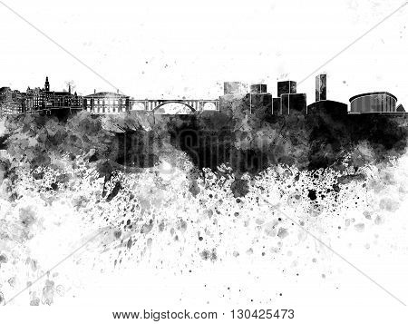 Luxembourg Skyline In Watercolor On White Background