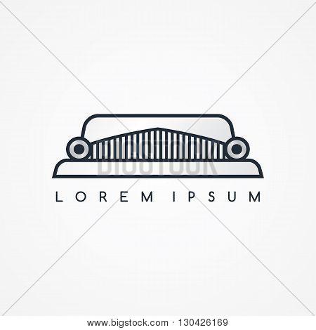 limousine logotype theme vector art graphic illustration