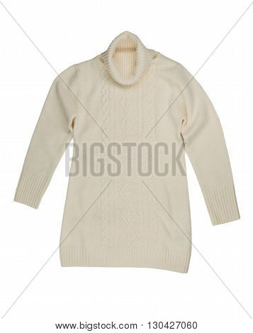Light knitted sweater. Isolate on white. clothing