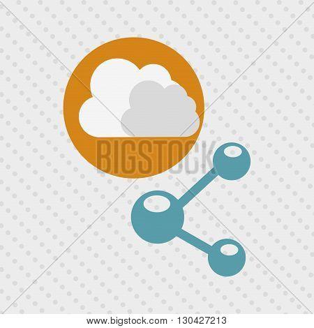 cloud computing design, vector illustration eps10 graphic