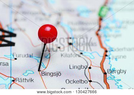 Bingsjo pinned on a map of Sweden