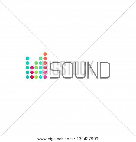 Sound studio logo vector concept, musical service emblem, equalizer, music, audio system logotype, sound waves label modern simple elegant design isolated on white background