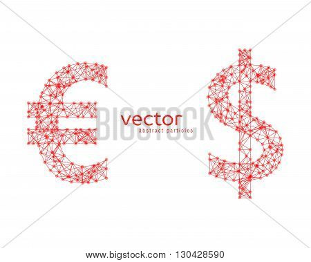 Illustration Of Euro And Dollar Sign
