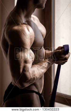 Athlete Muscular Bodybuilder