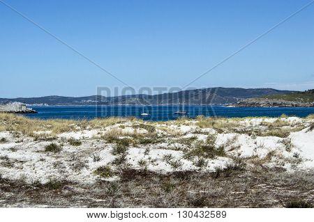 The Atlantic coast in Galicia in Spain