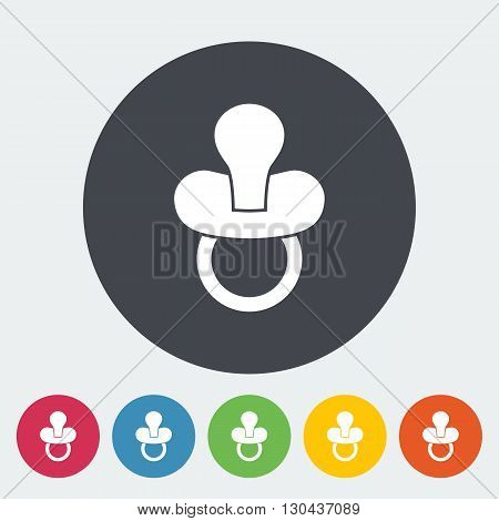 Nipple icon. Flat vector related icon for web and mobile applications. It can be used as - logo, pictogram, icon, infographic element. Vector Illustration.