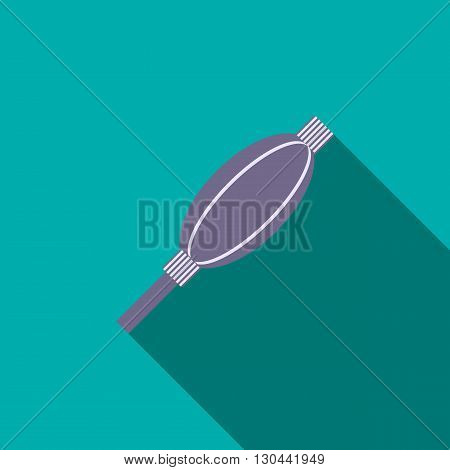 Photographic enlarger icon in flat style on a blue background