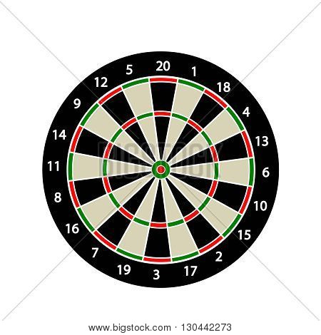 Dart board sport icon illustration. Dart board
