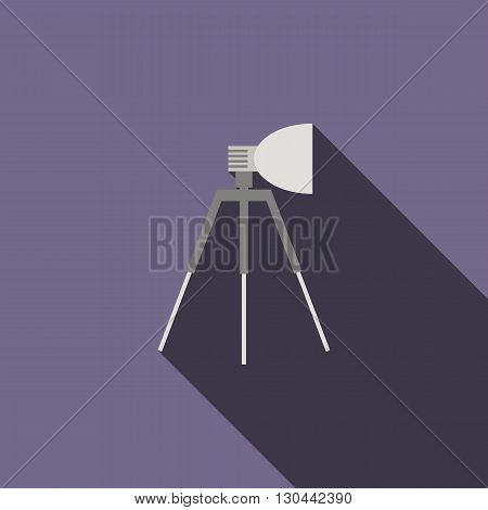 Studio light icon in flat style on a violet background