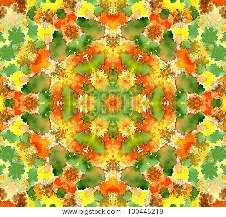 Bright background with abstract concentric watercolor pattern