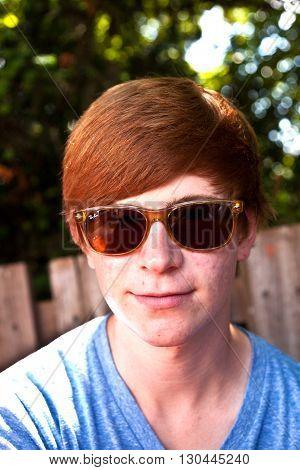 Portrait Of Teenager In The Beergarden