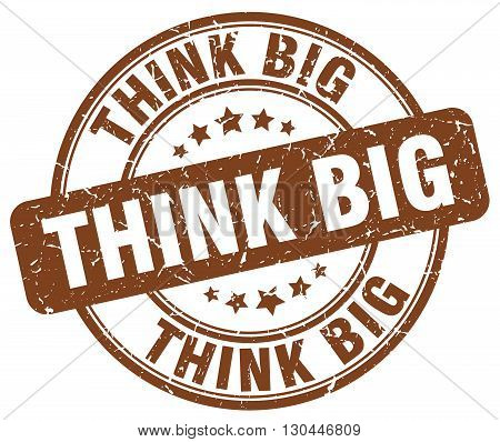 think big brown grunge round vintage rubber stamp
