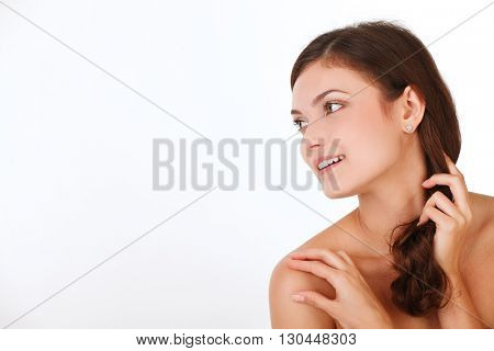 Beauty woman with perfect skin Portrait.