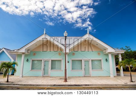Blue Wooden Closed House