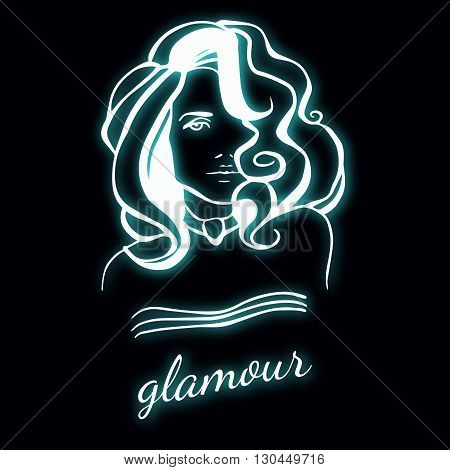 Beauty female face logo design vector photo bigstock for Abstract beauty salon