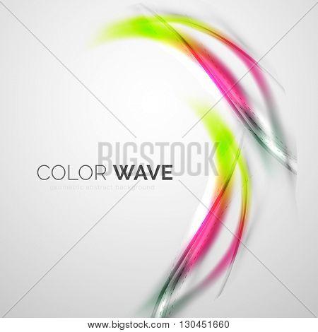Elegant light smooth vector wave