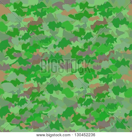camouflage seamless pattern in various shades of green