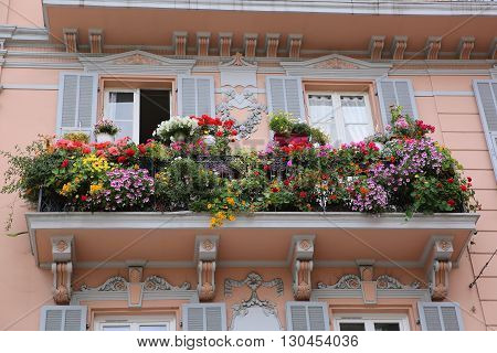 Many Flowers - Beautiful Flowery Balcony in Monte-Carlo Monaco