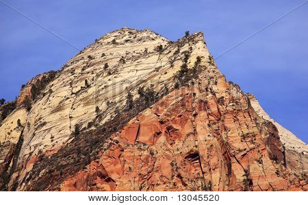 The Sentinel Tower Of Virgins Zion Canyon National Park Utah