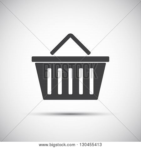 Simple vector illustration of a shopping basket icon