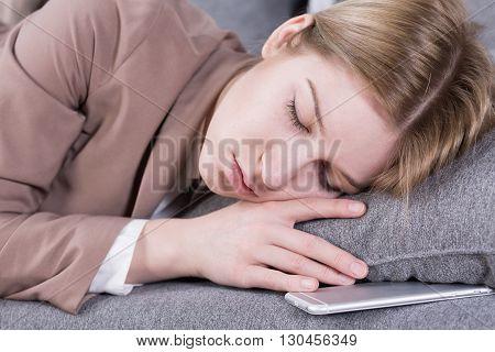Sleeping Break After Work