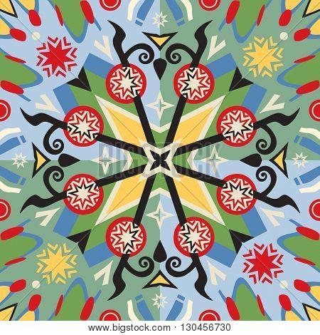 floral background, vector image