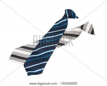 dress men's necktie isolated on white background