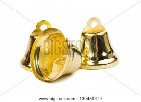 setting decor christmas bells on a white background