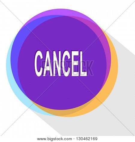 cancel. Internet template. Vector icon.